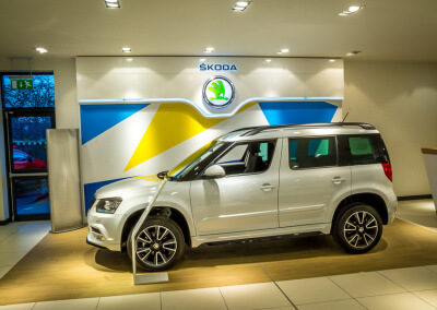 Skoda Car Display